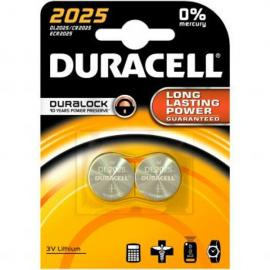 duracell DL2025 LITHIUM CR2025 3V - BLISTER 2 BATTERIE MELDU21B2