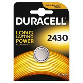 duracell DL2430/BR2430 LITHIUM CR2430 3V - BLISTER 1 BATTERIA MELDU49