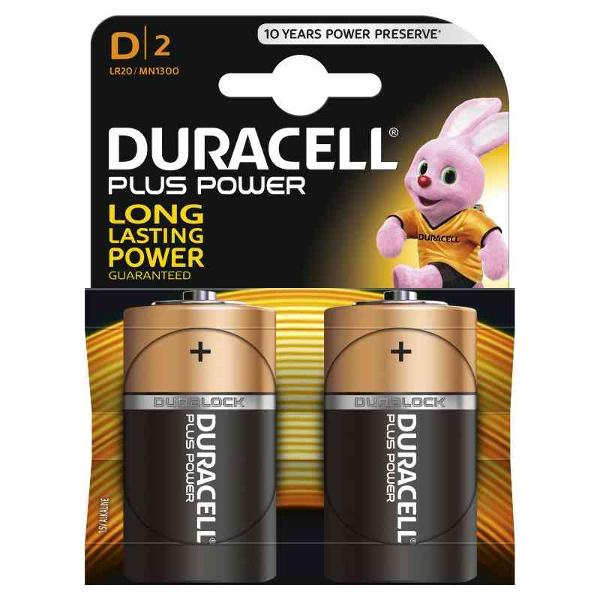 duracell LR20/MN1300 TORCIA D PLUS POWER - BLISTER 2 BATTERIE MELDU0400