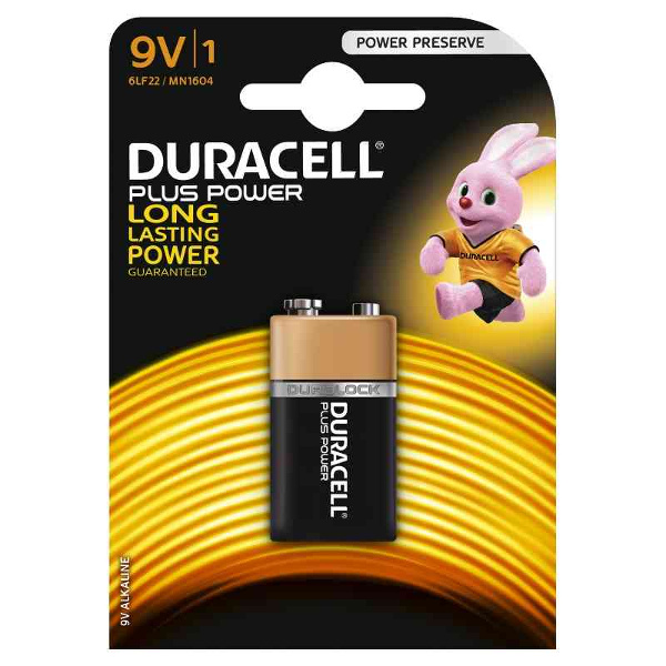 duracell 6LF22/LM1604 TRANSISTOR 9V PLUS POWER - BLISTER 1 BATTERIA MELDU0501