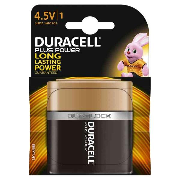 duracell 3LR12/MN1203 PIATTA 4,5V PLUS POWER - BLISTER 1 BATTERIA MELDU0600