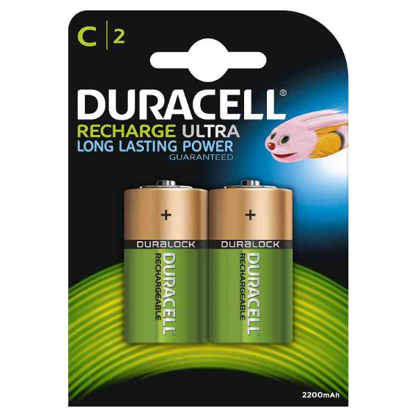 duracell LR014/HR14 MEZZATORCIA C RICARICABILE PREC. 2200MAH - BLISTER 2 BA MELDU13