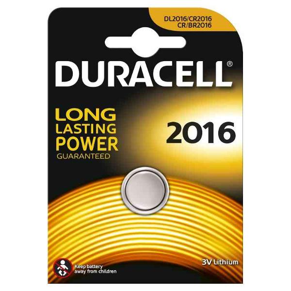 duracell DL2016/BR2016 LITHIUM CR2016 3V - BLISTER 1 BATTERIA MELDU20
