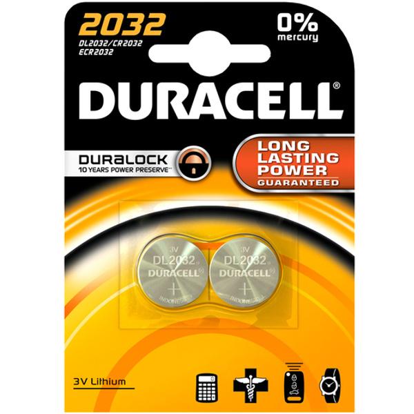 duracell DL2032/BR2032 LITHIUM CR2032 3V - BLISTER 2 BATTERIE MELDU22B2