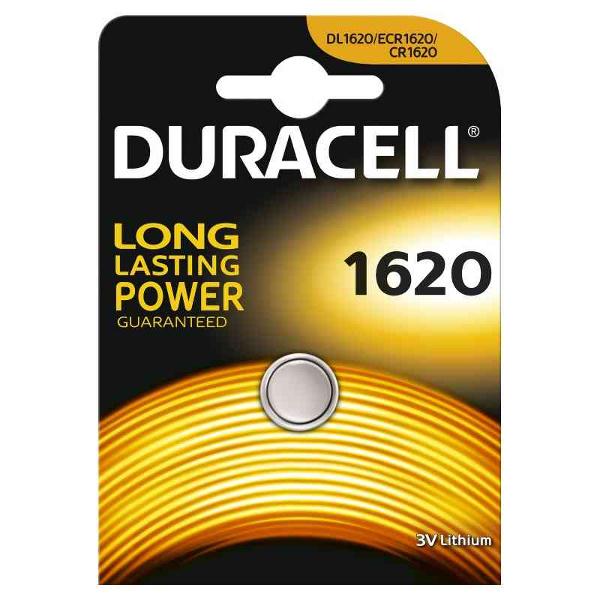 duracell DL1620/BR1620 LITHIUM CR1620 3V - BLISTER 1 BATTERIA MELDU27