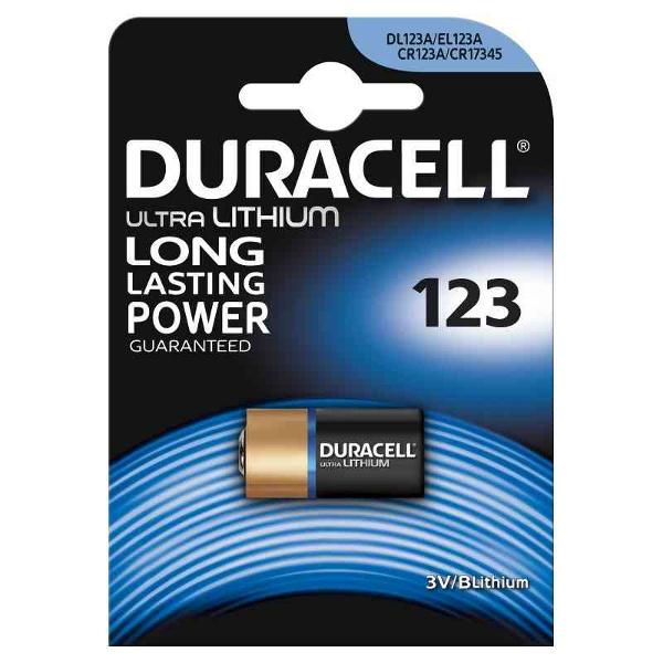 duracell DL123A/CR/123ACR1734 ULTRA LITIO TIPO 123 3V - BLISTER 1 BATTERIA MELDU28
