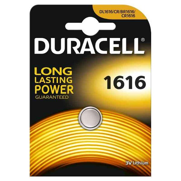 duracell DL1616/BR1616 LITHIUM CR1616 3V - BLISTER 1 BATTERIA MELDU48