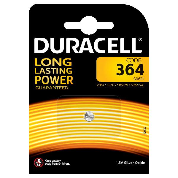 duracell V364/SR60/SR621W BATTERIA SPECIALISTICA 364 OSSIDO DI ARGENTO MELDU84