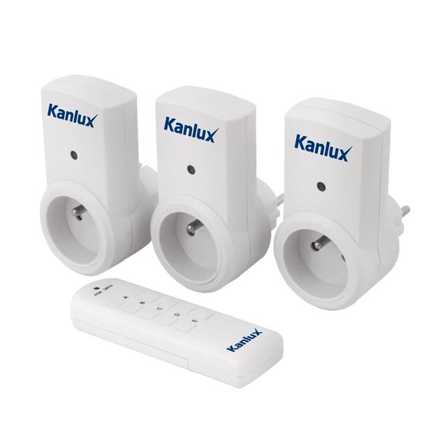kanlux  KIT 3 PRESE CON COMANDO A DISTANZA MELAPOTM-3