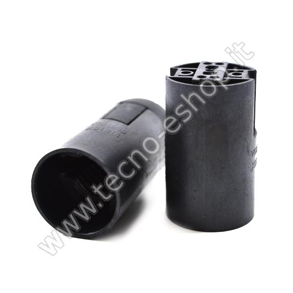 tecno-eshop  PORTALAMPADA E14 NERA MELP0140N