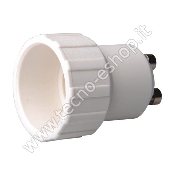 tecno-eshop  ADATTATORE PER LAMPADINE DA GU10 A E14 MELPA1014