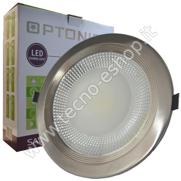 Optonica  FARETTO INCASSO 30W BIANCO NATURALE COB SATINATO LEDSP3175