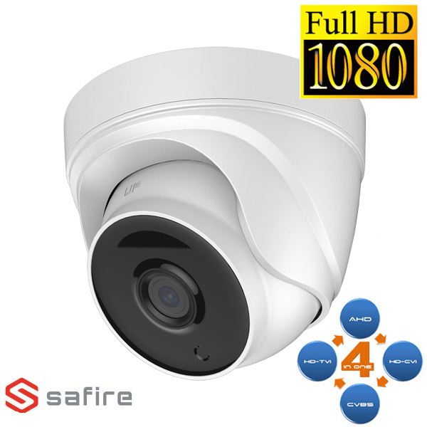 safire  CAMERA MINIDOME AHD/TVI/CVI/ANALOGICA SMART IR 2MP ECO VISSFDM943-F4N1