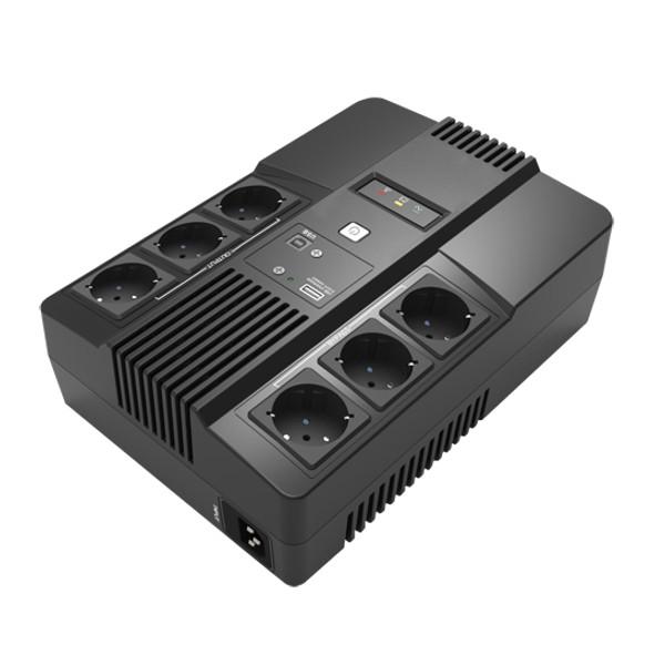 tecno-eshop SAI UPS 800VA MONOFASE 6 SCHUKO UPSSAI800