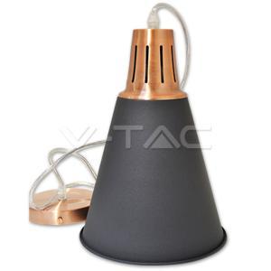 v-tac VT-7520 PORTALAMPADA E27 PENDENTE RAME/SABBIATO NERO D220 LED3700/home/nhnkwszl/public_html/img/thumb/300/3700.jpg