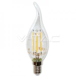 v-tac VT-1997 LAMPADINA LED E14 4W FILAMENTO BIANCO FREDDO A FIAMMA LED4430