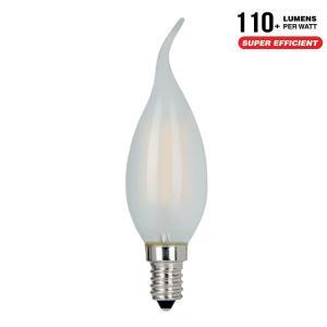 AlcaPower APF37F_4 LAMPADINA LED E14 4W FILAMENTO SATINATA CALDA A FIAMMA ALC929889