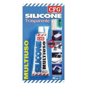 cfg SILIC60GR SIGILLANTE SILICONE ANTIMUFFA TRASPARENTE 60GR CFGW00071