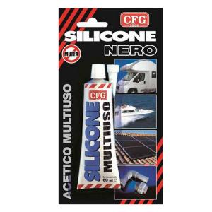 cfg SILIC60GR SIGILLANTE SILICONE ANTIMUFFA NERO 60GR CFGW031
