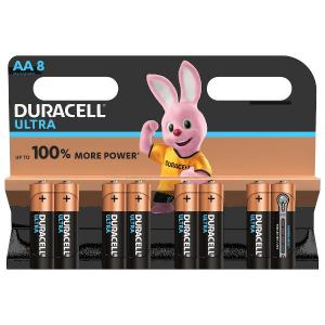 duracell LR6/MX1500 STILO AA ULTRA POWER - BLISTER 8 BATTERIE MELDU0025