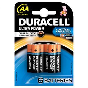 duracell LR6/MX1500 STILO AA ULTRA POWER - BLISTER 6 BATTERIE MELDU0060B6