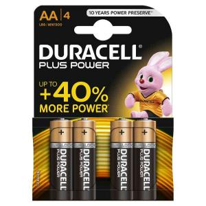 duracell LR6/MN1500 STILO AA PLUS POWER - BLISTER 4 BATTERIE MELDU0100