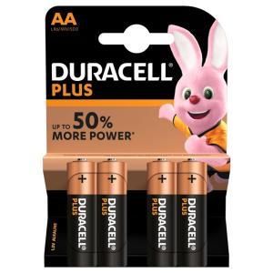 duracell LR6/MN1500 STILO AA PLUS POWER - BLISTER 4 BATTERIE MELDU0100