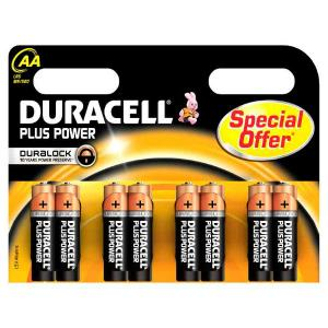 duracell LR6/MN1500 STILO AA PLUS POWER - BLISTER 8 BATTERIE MELDU0110
