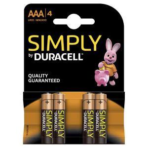 duracell LR03/MN2400 MINISTILO AAA SIMPLY - BLISTER 4 BATTERIE MELDU031/home/nhnkwszl/public_html/img/thumb/300/du031.jpg