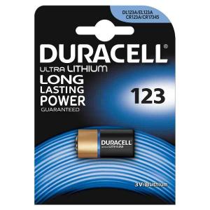 duracell DL123A/CR/123ACR1734 ULTRA LITIO TIPO 123 3V - BLISTER 1 BATTERIA MELDU28