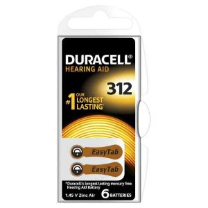 duracell DA312 DURACELL EASY TAB312 MARRONE- BLISTER 6 BATTERIE MELDU79