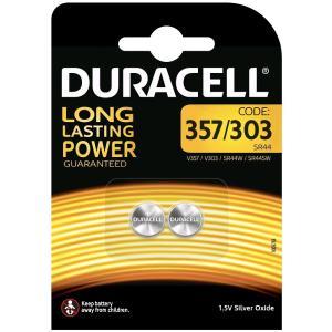 duracell 303/V357/SR44/SR44W BATTERIA SPECIALISTICA 357 303 OSSIDO DI ARGENTO BLISTER 2 P MELDU51/home/nhnkwszl/public_html/img/thumb/300/duracell_du51_357_303_batteria_bottone.jpg