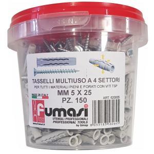 fumasi TASS1 TASSELLI 5 MM NYLON CONFEZIONE 150 PEZZI FUM620005/home/nhnkwszl/public_html/img/thumb/300/fumasi_620005_150_tasselli_5mm_4settori.jpg