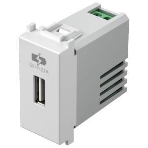 tem EM66 PRESA CARICABATTERIA USB 5V 2,1A BIANCO LUCIDO TEMEM66PW-U
