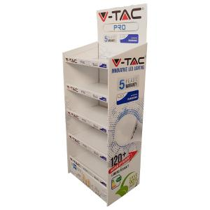 v-tac  ESPOSITORE A TERRA IN CARTONE VTAC LED10458