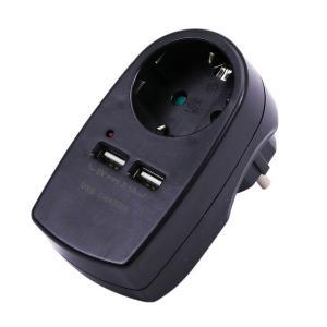 v-tac VT-1044 ADATTATORE CARICABATTERIA 2 USB 5V 2A SCHUKO NERO LED8796/home/nhnkwszl/public_html/img/thumb/300/v-tac_vt-1044_8796_caricabatteria_usb_2a_nero_schuko.jpg
