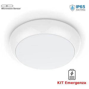v-tac VT-19 PLAFONIERA LED 17W NATURALE IP65 SENSORE E EMERGENZA CHIP SAMSUNG LED812