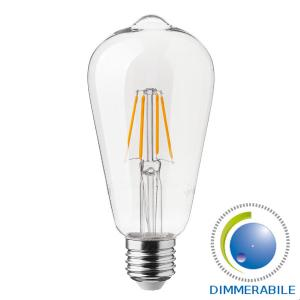 v-tac VT-2105 LAMP. LED E27 ST64 FILAMENTO 4W BIANCO CALDO DIMMERABILE LED7414