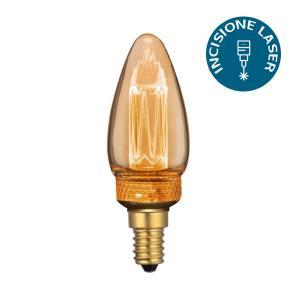 v-tac VT-2152 LAMPADINA LED E14 2W AMBRA A CANDELA CON INCISIONI LASER LED7472