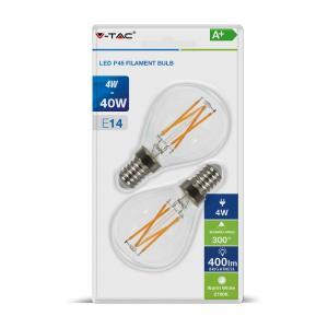 v-tac VT-2184 LAMPADINA LED E14 4W FIL. BIANCO CALDO A MINIBULBO 2 PEZZI LED7366/home/nhnkwszl/public_html/img/thumb/300/v-tac_vt-2184_7366_4W_lampada_E14_P45_minibulbo_calda_filamento_blister.jpg