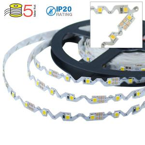 v-tac VT-2835IP2060 STRISCIA 300 LED BIANCO CALDO 5 MT NON IMPERMEABILE S SHAPE LED2559