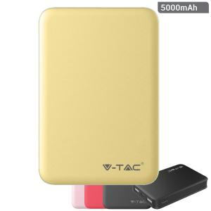 v-tac VT-3503 POWER BANK RICARICA CELLULARI 5000MAH  2USB GIALLO LED8196/home/nhnkwszl/public_html/img/thumb/300/v-tac_vt-3503_8196_power_bank_1000ma_giallo.jpg