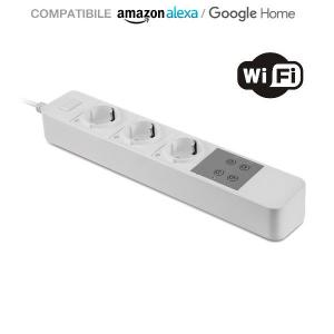 v-tac VT-5006 INTERRUTTORE MULTIPRESA WIFI COMPATIBILE ALEXA E GOOGLE HOME LED8420