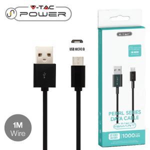 v-tac VT-5301 CAVO USB A MICRO USB 1 METRI NERO PEARL SERIES LED8481/home/nhnkwszl/public_html/img/thumb/300/v-tac_vt-5301_8481_cavo_usb_micro_nero_1mt_pearl_series.jpg