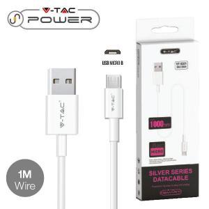 v-tac VT-5321 CAVO USB A MICRO USB 1 METRI BIANCO SILVER SERIES LED8484/home/nhnkwszl/public_html/img/thumb/300/v-tac_vt-5321_8484_cavo_usb_micro_bianco_1mt_silver_series.jpg