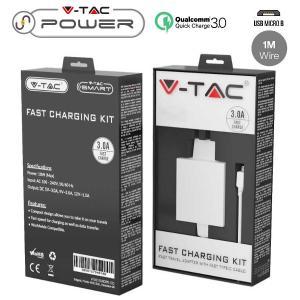 v-tac VT-5381 KIT CARICABATTERIA VELOCE USB 5V QC3.0A BIANCO E CAVO MICRO USB IN BLISTER LED8641/home/nhnkwszl/public_html/img/thumb/300/v-tac_vt-5381_8641_caricabatterie_usb_qc30_bianco_cavo_microusb_1m.jpg