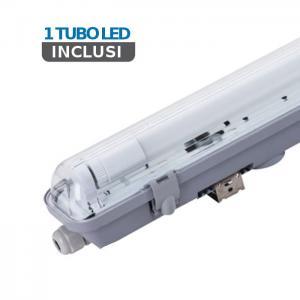 v-tac VT-6028 PLAFONIERA LED TUBI 1X10W BIANCO FREDDO 60CM IP65 LED6464