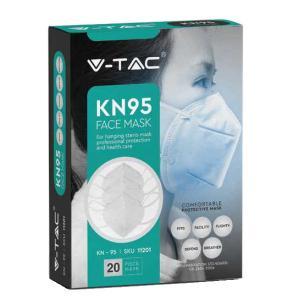vtac VT-KN95 MASCHERINA FFP2 KN95 IN CONFEZIONE 20 PEZZI LED11201/home/nhnkwszl/public_html/img/thumb/300/v-tac_vt-7151_11201_mascherina_ffp2_KN95_confezione20pezzi.jpg