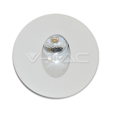 V-TAC VT-1109RD SEGNAPASSO LED 3W BIANCO NATURALE TONDO LED1208