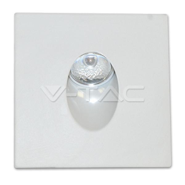 V-TAC VT-1109SQ SEGNAPASSO LED 3W BIANCO NATURALE QUADRATO LED1210